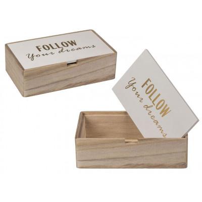 Caja de madera Follow your dreams