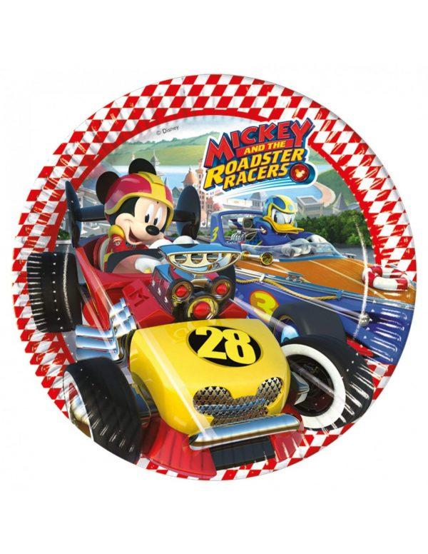 platos mickey roadster racers de 23cm 8 uds