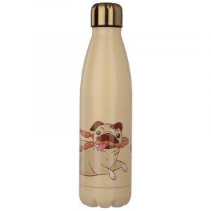 botella termica perro carlino