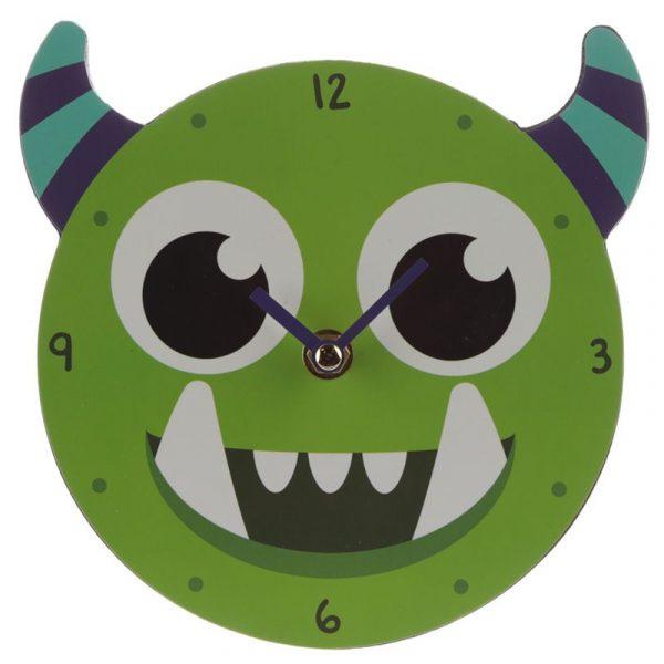 Reloj de pared monstruo verde