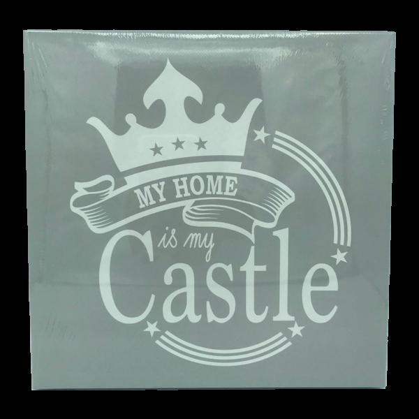 lienzo decorativo my home is my castle