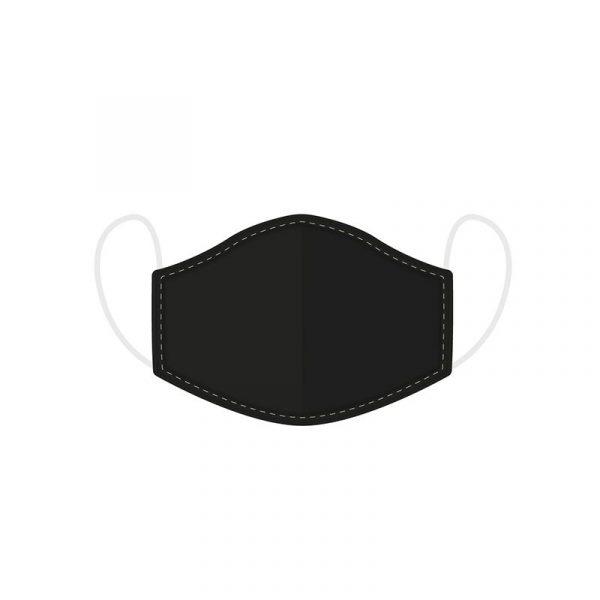 Mascarilla Higiénica reutilizable Negra - Grande